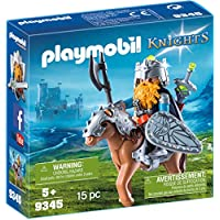 Playmobil 9345 Knights Dwarf Fighter with Pony with Removable Armour