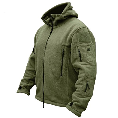 CRAVOG Kapuzenpullover Herren Fleece Hoodie Jacke Winter warm Outdoor Militär Army Jagd Taktisch Paintball Wandern Sport Wintersport Freien Softshell Casual tops