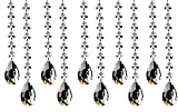 Fushing 10Pcs 305mm Kristall Teardrop Kronleuchter Prismen Anhänger Teile Perlen Stränge