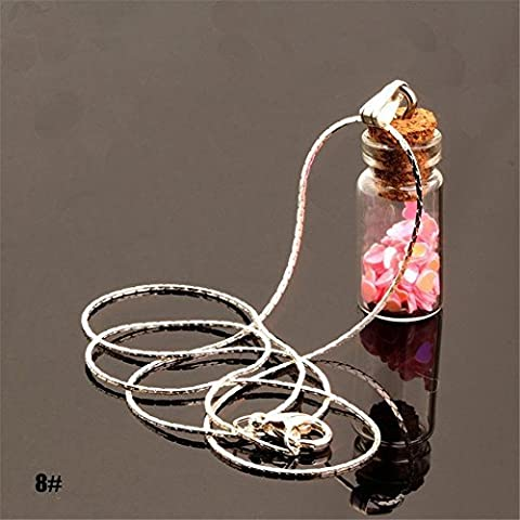 Bangood Lady Charming Chain Star Sand Glass Wishing Bottle Multicoloured Pendants Necklace?8# by Bangood