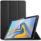 """IVSO Étui de Protection Fin pour Samsung Galaxy Tab A 10.5 SM-T590/T595 avec Fonction réveil et Sommeil Idéal pour Samsung Galaxy Tab A SM-T590/SM-T595 10,5"""" 2018 Noir"""