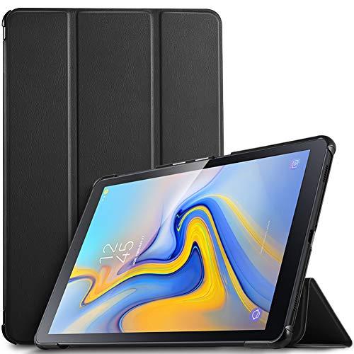 IVSO Hülle für Samsung Galaxy Tab A 10.5 SM-T590/T595, Slim Schutzhülle mit Auto Aufwachen/Schlaf Funktion Perfekt Geeignet für Samsung Galaxy Tab A SM-T590/SM-T595 10.5 Zoll 2018, Schwarz