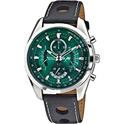 Accurist Mens Green Dial Chronograph Watch With Date Display MS785E