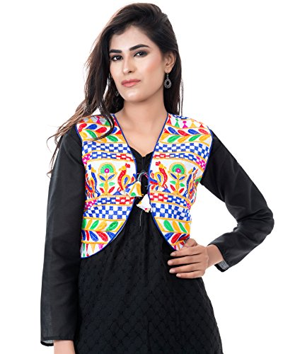 Banjara Women's Jacket (SJK-DCK02_White_Free Size)