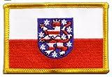 Flaggen Aufnäher Deutschland Thüringen Fahne Patch +
