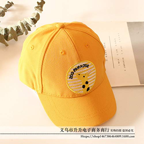 Kostüm Gogh Baby Van - mlpnko Kinder Hut Stickerei Baby baseballmütze 1-4 Jahre alte dünne Kappe gelb 49-51 cm