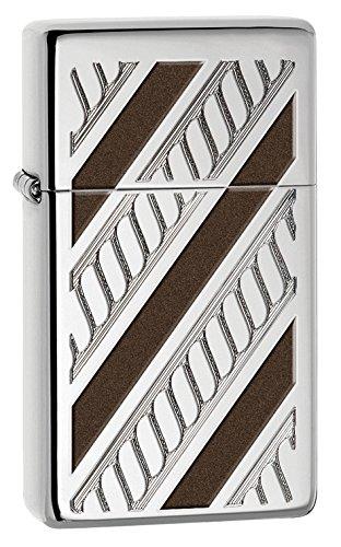 Zippo PL 28810-1603 Rope Band Feuerzeug, Messing, Edelstahloptik, 1 x 3,5 x 5,5 cm