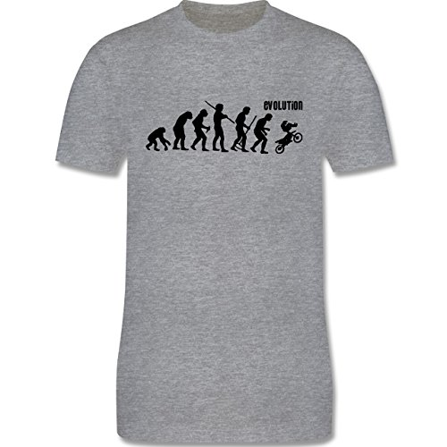 Evolution - Motocross Evolution - Herren Premium T-Shirt Grau Meliert