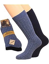 Herren Wollsocken Herren Merino Socken 70% Wolle warme Wollsocken Plüschsohle Wintersocken Socken Wolle Herren 1 oder 2 Paar