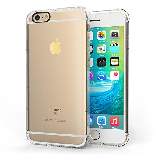Centopi iPhone 6 / 6S TPU Gel Case [Air Bumper] Transparent Cover - Clear