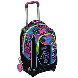 2696623d0e2a5f TROLLEY SEVEN NEW JACK – SWAG GIRL – Nero Rosa – SGANCIABILE e LAVABILE – Scuola  e viaggio