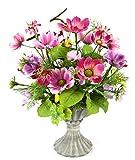 Flair Flower Cosmea i.Pokal, Polyester, Kunststoff, Keramik, Variiert, 35 x 28 x 26 cm