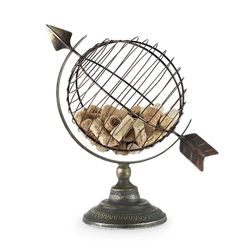 Twine 5596 Chateau: Old World Globe Kork Display, mehrfarbig (Globe Old World)