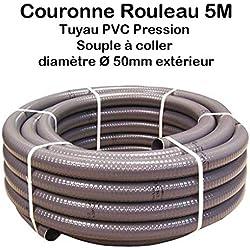 Couronne Rouleau 5M Tuyau PVC Pression Souple à coller Ø 50mm diamètre/Bassins et Piscines