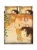 Lumastore Parure lit rêves d'auteur, Impression numérique, 100% Coton, Double Pl-sd50-2p
