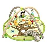 Jeteven Erlebnisdecke Krabbeldecke Spieldecke Spielmatte/Nest mit Spielbogen, 95x50cm