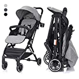 COSTWAY Kid Pram | Folding Baby Stroller | Travel System with Five-Point Harness