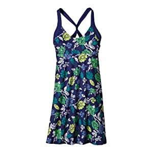 Patagonia Damen Kleid Morning Glory Dress, blue butterfly, S, 20522-459
