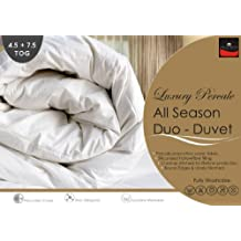 Percale - Pure Luxury New All Seasons Duo Duvet / Quilts Set - 4.5 + 7.5 Tog (Kingsize 225cm x 220cm)
