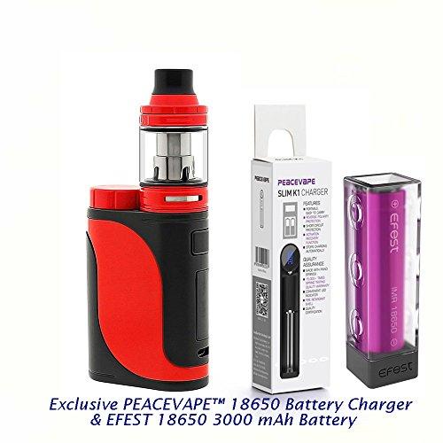 Autntico-Eleaf-Istick-Pico-25-Cigarrillo-electrnico-85W-Kit-de-inicio-Rojo-Negro-Eleaf-Pico25-con-1-X-EFEST-3000-mAh-Batera-y-cargador-de-18650-batera-PEACEVAPE-Sin-Tabaco-Sin-Nicotina