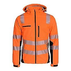 Asatex PTW-SP L 68 Warnschutzjacke Prevent Trendline Softshell, Orange/schwarz, L