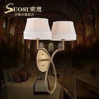 BBSLT Rame parete lampada lampada da comodino
