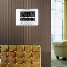 Relojes Meteorológicos Termómetros Medidor Electrónico Despertador Digital de Temperatura Calendario en Pared Digital