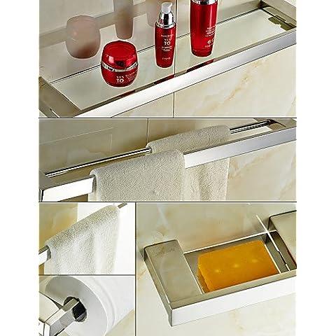 sbwylt-bathroom Juego de accesorios, contemporáneo montado en la pared de acero inoxidable