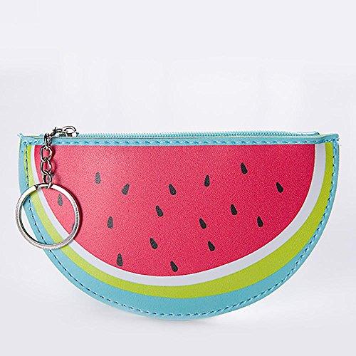 Longra Donna Un modello di frutta, una borsa a chiave corta, una borsa zero Rosso