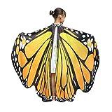 Vectry Halloween Cosplay Kinder Jungen Mädchen Neuheit Feenhafte Nymphe Pixie Karneval Zubehör Weihnachten Cosplay Kostüm Zusatz, Gedruckt Weiche Gewebe Schmetterlings Flügel Butterfly Cape Schal Wrap