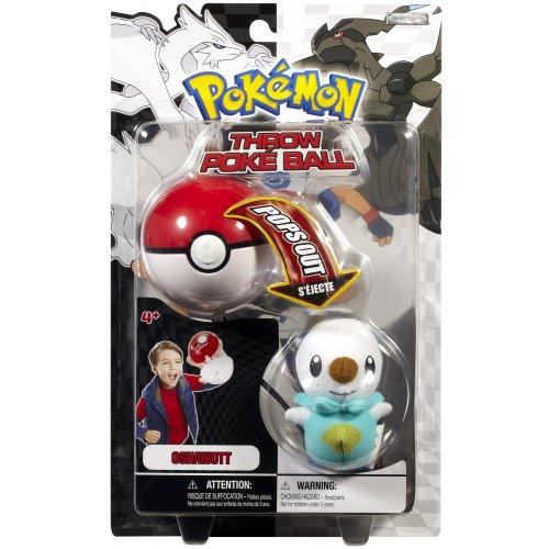 Pokemon Throw Poke Ball B&W Series #1 Oshawott (Water Type Starter With Poke Ball) - Bw-serie