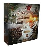 Querfee® - Kaffee aromatisiert Adventskalender mit 24 Türchen - 24 x verschiedener Kaffee für abwechselungsreiche Kaffeemomente - 24 x 15 g Kaffee - 360 g gemahlener Kaffee insgesamt - Röstkaffee und aromatisierter Röstkaffee