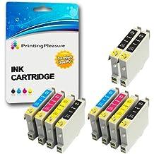 10 Cartuchos de tinta compatibles para Epson Stylus C64, C64 Photo Edition, C66, C66 Photo Edition, C68, C84, C84N, C84WN, C84 Photo Edition, C86, C86 Photo Edition, CX3600, CX3650, CX4600, CX6400, CX6600 / T0441, T0442, T0443, T0444 (T0445)