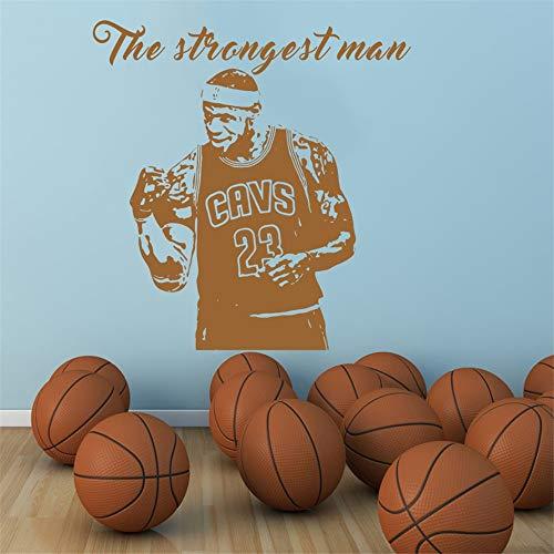 Ajcwhml Basketball wandaufkleber wohnkultur Aufkleber Junge Zimmer Geschenke große Vinyl wandbilder 114x118 cm cm -