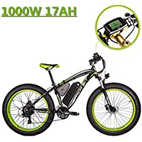 eBike_RICHBIT 022 Électrique Vélo de Montagne Fat Tire Cruiser Cycling 1000W 48V 17AH eBike