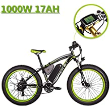 eBike_RICHBIT 022 Bicicleta eléctrica Fat Tire neumático Bicicleta eléctrica Cruiser Bicicleta eBike Ciclismo 1000W 48V Potente motor 17AH LG Cell Lithium ...