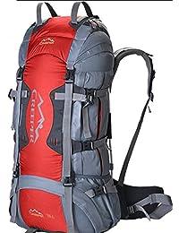MLveen bolsos al aire libre del alpinismo 70L mochila mochila bolsa de viaje resistente al agua Macutos de senderismo ( Color : Rojo , Tamaño : 70L )