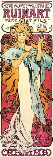 champagne-ruinart-reproduction-1897-alphonse-alphonse-mucha-art-nouveau-tableau-imprime-fine-art
