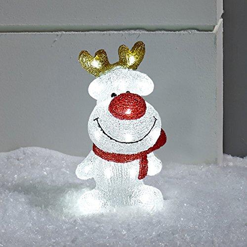 LED Acryl Figur Rentier 30cm Innen Außen Lights4fun