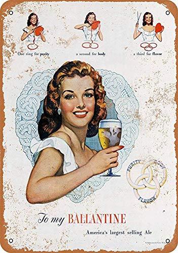 Ballantine Beer Blechschilder Dekoration Retro Vintage Metall Stil Retro Poster Cafe Bar Movie Gift Bathrooms Garages