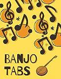Banjo Tabs: Leere Notenblatt mit Tabulatur für Banjo Lieder und Akkorde | Banjo Notizbuch | Banjo Tabulatur für Anfänger (Schreibe deine eigene Banjo Musik auf!)