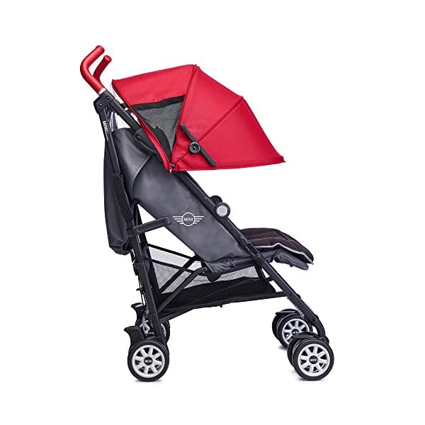 Easywalker Mini Buggy, X-Large, Union Red Easy Walker Suitable from birth 5 point 3 position harness Four recline positions with near flat recline 3