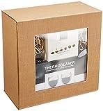 BIO TEEBLUMEN-GESCHENKSET / 2x 310ml DUOS Jumbo Doppelwandgläser + 6er-Box bedida BIO-Teeblumen weißer Tee in neutraler naturfarbiger Geschenk-BOX: -