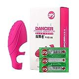 Sexspielzeug Set Masturbation Vibratoren Analplug Sprung Eier Dildo Riou Vibrierender Silikon-Spitzen-Kondom-wiederverwendbarer dauerhafter Stoß Verbessern (Freie Größe, Pink)
