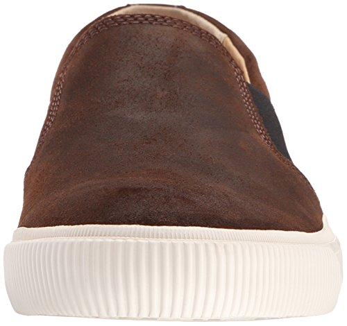 FRYE Mens Miller Slip On Fashion Sneaker Dark Brown
