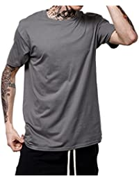 Fräulein Fox Verano Hombres Camisetas Casual Cuello Redondo Manga Corta  T-Shirt Tops Moda Colores d71c10f846a