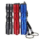 3 PCS Mini torche lampe de poche police W/AA 3W LED Tactique Etanche bleu rouge noir