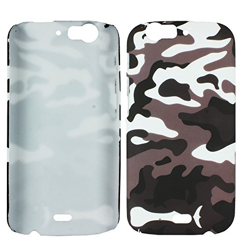 Heartly Army Style Retro Color Armor Hybrid Hard Bumper Back Case Cover For Micromax Canvas Turbo A250 Dual Sim - Ash Brown