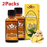 Ginger Essential Oil for Lymphatic Drainage, Swelling, Ginger Oil Organic, Ginger Oil, SPA Massage Oils, Ginger Oil for Massage Lymphatic Drainage