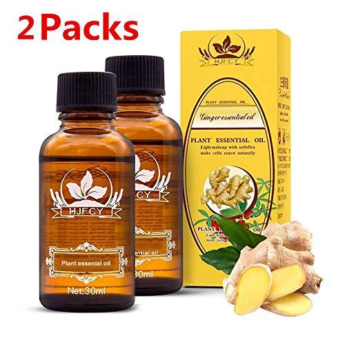 Huile essentielle de gingembre pour le drainage lymphatique, gonflement, huile de...